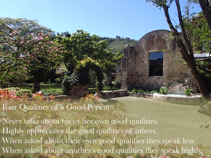 four qualities of a good person bhante sujatha
